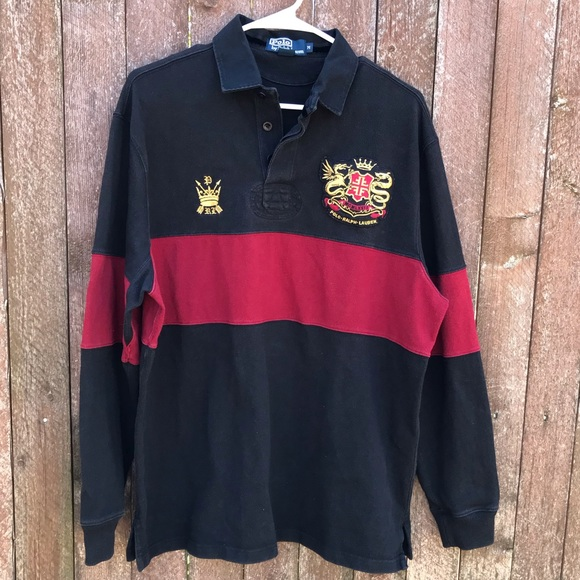 fe2e67f6377 Polo by Ralph Lauren Shirts | Vintage Polo Ralph Lauren Rugby Black ...